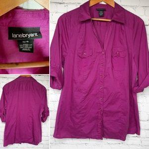 Lane Bryant purple shirt size 14/16